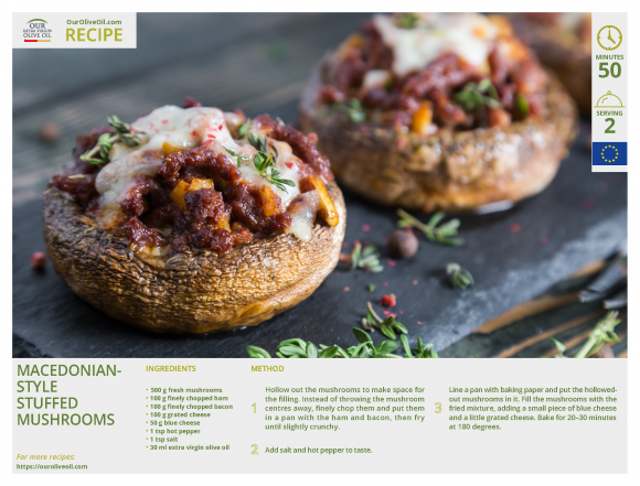 9. Macedonian-style stuffed mushrooms